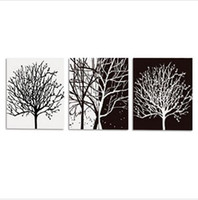 Wholesale Black and white hand painted oil paintings hotel hotel room entrance wall decoration frameless wall paintings