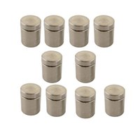 Wholesale 4pcs pack Stainless Steel Advertisement Nails Wall Mount Glass Sliver Stone Standoff Bolt Pins mm Diameter
