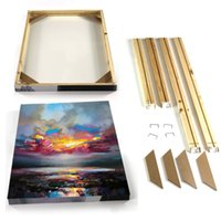 Wholesale KG China Fir Wooden DIY Frame Different Sizes DIY Stretcher For Oil Painting Wall Art Ready to Hang
