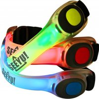 band warning - Flashing Glowing Bracelet flash wrist bands Running LED Wrist Band Lights Warning Ring Walking Cycling Running Safety Armband JF