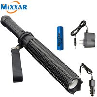 Wholesale Powerful LM LED Flashlight Battery CREE XM L2 Telescopic Self Defense LED Rechargeable Torch Flash Light