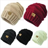 Unisex CC cráneo de moda Gorras Etiqueta Fedora Sombreros de punto Gorro de lujo Slouchy Beanie Moda invierno Gorras de ocio al aire libre sombreros de esquí Nuevo B2032