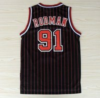 Wholesale 2017 new Retro Dennis Rodman Rev New Material Dennis Rodman Throwback Fashion Uniform Home Blue Yellow White Red