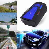 Wholesale V7 Car Radar Detector Degree Band Scanning LED Display Auto Detectors English Russian Voice Alert Warning Blue Red