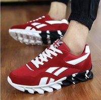 Wholesale 2016 Men s Fashion Air Cushion Casual Shoes Men Lace up Red Blue Spring Autumn Walking Jogging Shoes Mens Trainers