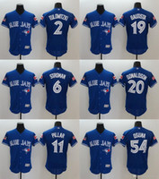 Wholesale Mens Jose Bautista Baseball Jerseys Toronto Blue Jays Josh Donaldson Troy Tulowitzki Kevin Pillar Flex Base Player Jerseys