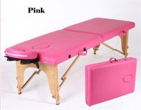 Wholesale New Arrival Folding massage Bed furniture for Health Beauty salon SPA Commercial beech wooden bed