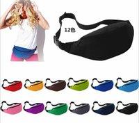 belly pillow - New Unisex Portable Multifunction Sport Running Fanny Pack Belly Waist Bum Bag Fitness Running Jogging Belt Solid Pouch Waist Bag co