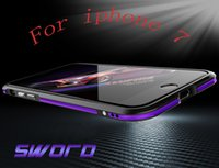 aluminum blade metal bumper case - For iPhone Plus Aluminum Bumper Case Dual Color TWO TONE Good Quality Luxury Blade Sword All Metal Frame Case