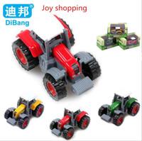 achat en gros de jouets d'agriculteurs-Nouveau puzzle 1:64 coulissante voiture en alliage petit agriculteur modèle de voiture enfants voiture de jouet