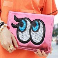 apple ipad shine - Smart Case Glitter Shining Big Eyes PU Automatic Wake Sleep Case For ipad Air mini Opp Bag