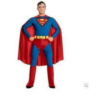 bargain suits - Bargain Adult men superman suit tight party clothes stage costumes Halloween carnival clothes party costumes