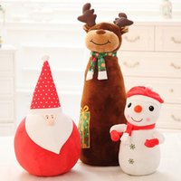 Wholesale Christmas Toy Elk Snowman Pilow Warm Toys The Child Friend Feel The Charm Of Winter Fun Toys