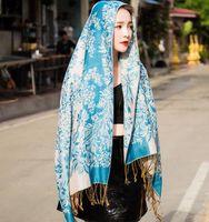 Wholesale National customs Jacquard weave Keep warm Fashion Tassels Scarves Wraps