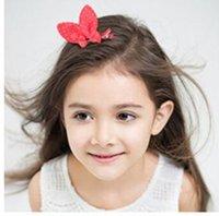 Wholesale Girls Rabit Ear Hair Clips Kids Hair Accessories Clips Polka Dot Barrettes Hairpin Childrens Accessories Hair Hairwear