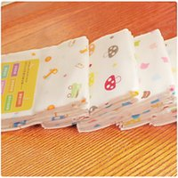 baby boy washcloths - 3 cm Baby Face Towel Layers High Density Cotton Gauze Cartoon Baby Stuff Square Hand Towel Toalha Infantil