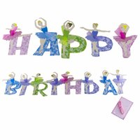 Wholesale Ballet Girls Happy Birthday Banner Decorations Kids M Lovely Paper Garland Party Decoration Supplies PT046