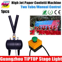 air jet machine - TIPTOP TP T68 Stage High Distance Air Jet Confetti Paper Machine Electrical Solenoid Valve Manual Control High Height Y Pipe Jet