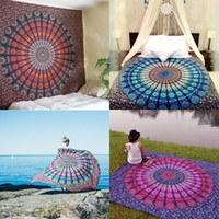 Yoga Blankets beige bedspread - New Indian Mandala Tapestry Home Decorative Wall Hanging Tapestries Beach Towel Yoga Mat Bedspread Table Cloth