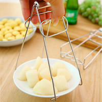 anti slip tray - YUMU Multifunctional Stainless Steel Non slip Anti scalding Bowl Clip Holder Plate Clamp Chuck Taking Universal Forceps Clips Tray