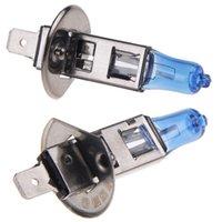 achat en gros de ampoule h1 lumineux-1 paire H1 55W halogène lumière lampe blanc brillant voiture phare ampoules bulbe 12V 6000K