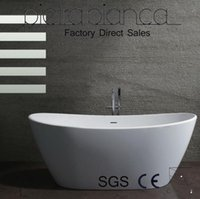 Wholesale Bathroom Furniture Solid Surface Stone Artificial Stone Man Made Stone Bathtub PB1009