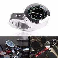 Wholesale Luxury Aluminum Alloy Chromed Universal mm Motorcycle Handlebar Mount Quartz Clock Watch for Harley Davidson Honda Yamaha Suzuki Kawasaki