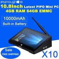 Wholesale Newest Inch PIPO X10 Mini PC Full HD Android TV Box Z8300 Quad Core G RAM G ROM HDMI Media Box Bluetooth Win10