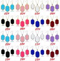 Wholesale Popular Women Kendra Jewelry Sets Shiny Geometry Stone Scott Style Earring Necklace Jewelry Set