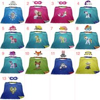 Wholesale Gold Hands New Children s Cloak and Masks cm Kids Cape with Movie Cartoon Characters Despicable Me Zootopia for Kids