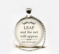 basketball quotes - Leap and the net will appear quote pendant Necklace inspirational quote necklace basketball necklace