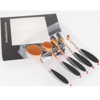 application brushes - Oval Foundation Brush set Toothbrush makeup brushes Fast Flawless Application Liquid Cream Powder Foundation Free by DHL