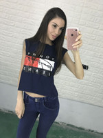 Wholesale Spring Summer Brand Tee New Cotton T Shirt Women Printed Fashion Letter Short Sleeve Shirts Tops Casual Sexy Women T Shirt