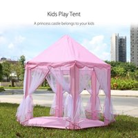 Wholesale Portable Toy Tents Princess Castle Play Game Tent Activity Fairy House Fun Indoor Outdoor Sport Playhouse Toy Kids Xmas Gifts