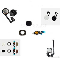 Wholesale Skylet For iPhone C S i6 s plus Top Quality Home Button With Flex Cable Black White Gold Home Flex Assembly By DHL
