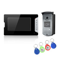 Wired alloy access - XSL V70E ID villa video door phone inch color aluminum alloy screen WLED m night vision with keys access to unlock doorbell