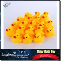 bathing day - Baby Bath Toy Sound Rattle Children Infant Kids Mini Yellow Rubber Duck Swimming Bathe Gifts bag