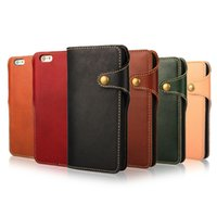 For Apple iPhone argentina leather - Card Wallet Case For Iphone s Plus Argentina Leather level one Wallet Leather Case Cover with Card Slots Side Pocket