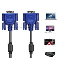 5M / 16Ft HD VGA Monitor Cables 1080P 15 Pin VGA Cables de Reemplazo 3M / 10Ft VGA Líneas de Extensión para Proyector HDTV con OPP Paquete