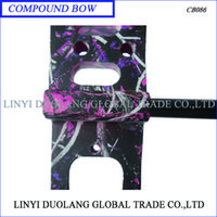 Wholesale High Quality Aluminum compound bow and carbon arrow set purple color for outdoor sports hunting or shot