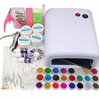 Wholesale New W UV White Nail Dryer Lamp UV Primer Clear White Pink Gel Rhinestones Ball Nail Glitter Decorations False Nail Tips
