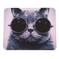 Wholesale Cat Picture Anti Slip Laptop PC Mice Pad Mat Mousepad For Optical Laser Mouse Promotion