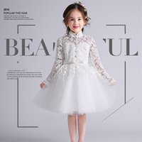 Wholesale Brand New Flower Girl Dresses with Appliques Party Pageant Communion Dress for Wedding Little Girls Kids Children Keyhole Dress