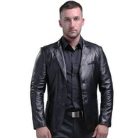 Wholesale AIBIANOCEL Brand Genuine Leather Jacket Men Slim Fit New Style Luxury Lapel Collar Male Leather Suits For Men Sheepskin Jacket