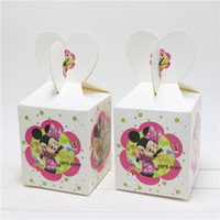 baby bonding - lovely cartoon minnie mouse candy box decor baby shower party happy birthday party decoration supplies child favor