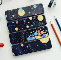 Wholesale designs Star series stationery school iron box pencil case for students school supplies