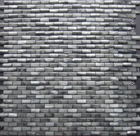 Wholesale 10 mm D arch Brick Grey Mother of Pearl Shell Mosaic Slabs