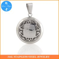 aries designs - Hot Classic Zodiac Aries Stainless Steel Pendant Hollow Box Design Fashion Jewelry For Man and Women