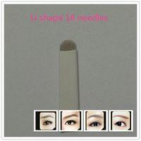 arc pc - U shape needle blade permanent makeup blades needles for manual pen pins microblading circular arc needle blade