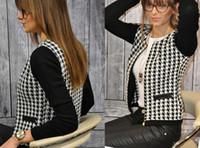 american apparel winter jacket - Autumn and winter fashion European and American apparel women slim plaid printed jacket patchwork zipper short coat